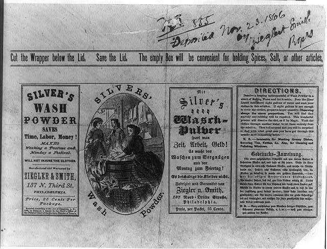 Wash Powder, Silvers 1866